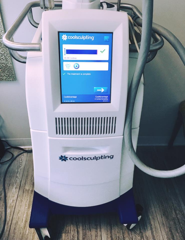 the coolsculpting machine from peace.love.med.